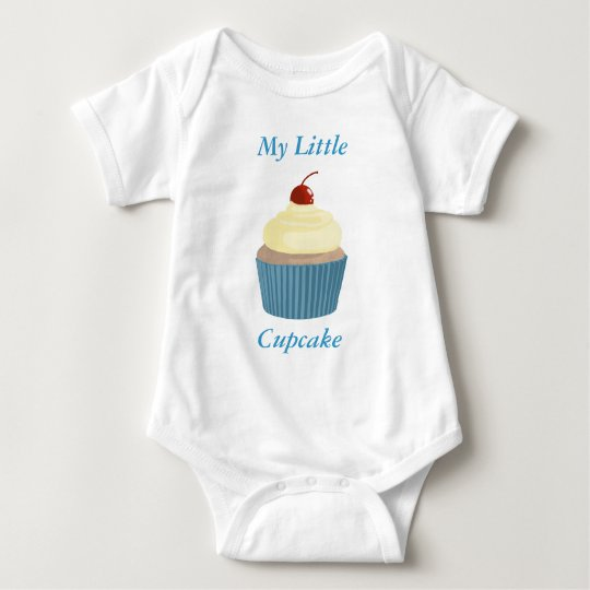 Cupcake-Yellow and Blue Baby Bodysuit