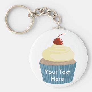 Cupcake-Yellow and Blue Keychain