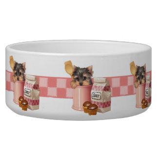 Cupcake Yorkie Bowl