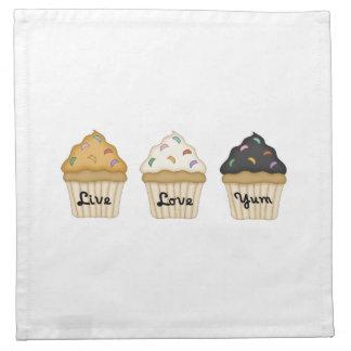 Cupcake Yum Cloth Napkin