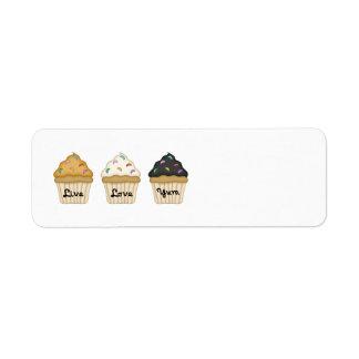 Cupcake Yum Custom Return Address Label