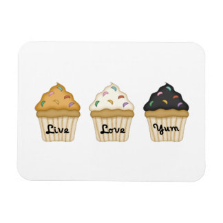 Cupcake Yum Rectangular Photo Magnet