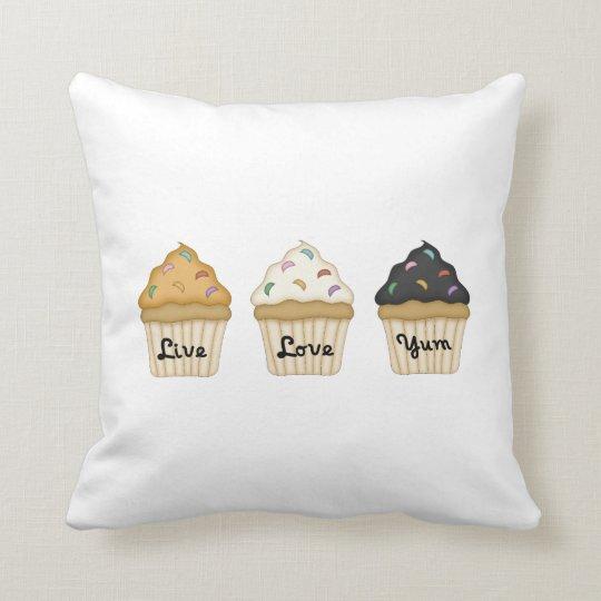 Cupcake Yum Throw Pillow
