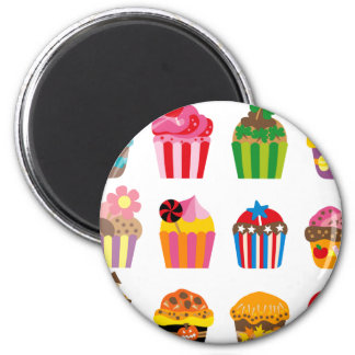 cupcakeALL 2 Inch Round Magnet