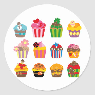 cupcakeALL Classic Round Sticker