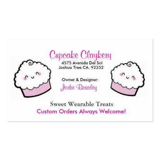 Cupcakes-1, Cupcakes-2, Cupcake Claykery, 4575 ... Business Card