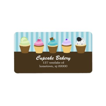 heartlocked Cupcakes Address Labels