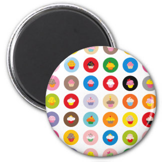 Cupcakes All 2 Inch Round Magnet