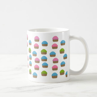 Cupcakes All Over Coffee Mug Pink Blue Green