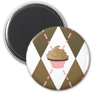Cupcakes and Argyle Magnets
