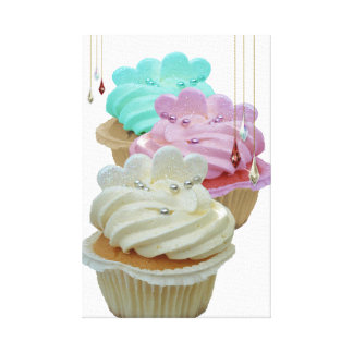 Cupcakes and Beads Wrapped Canvas Canvas Print