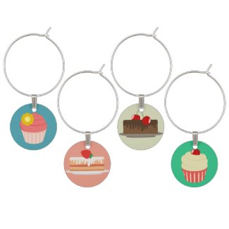 Cupcakes and Cakes Wine Charm