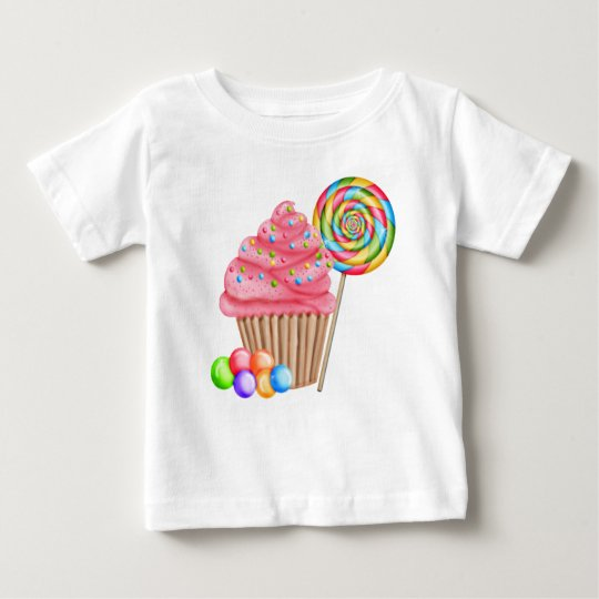 Cupcakes and Candy Birthday T Shirt