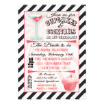 Cupcakes and Cocktails Bridal Shower Invitations