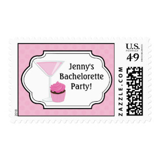 Cupcakes and Cocktails Party Postage Stamp
