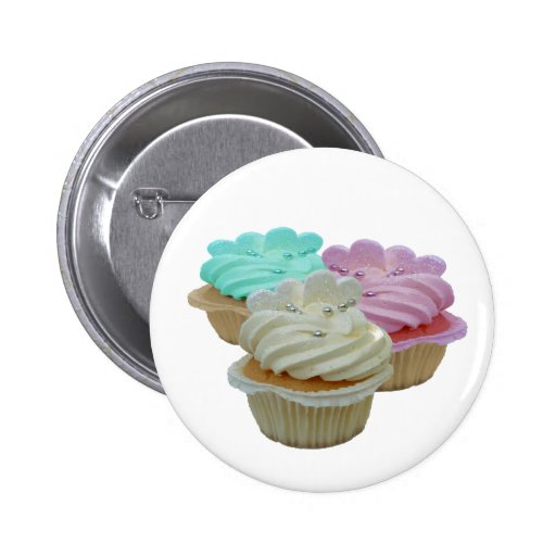 Cupcakes and Hearts 2 Inch Round Button
