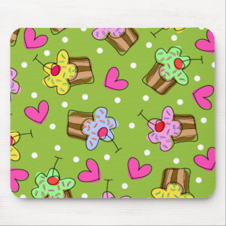 Cupcakes and Hearts Mouse Pads