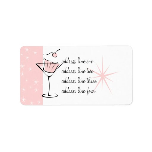 Cupcakes and Martinis Address Label