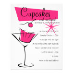 Cupcakes and Martinis in Hot Pink Custom Invites