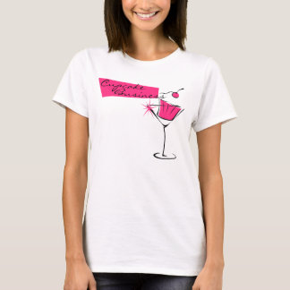 Cupcakes and Martinis in Hot Pink T-Shirt
