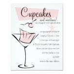 "Cupcakes and Martinis! 4.25"" X 5.5"" Invitation Card"