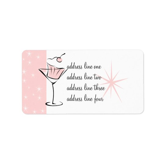 Cupcakes and Martinis Label