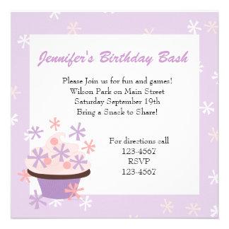 Cupcakes and Stars Invitations