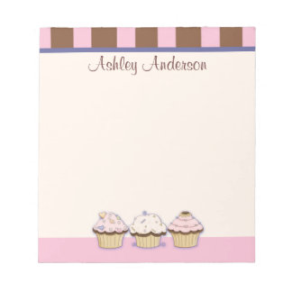 Cupcakes and Stripes Personal Notepad
