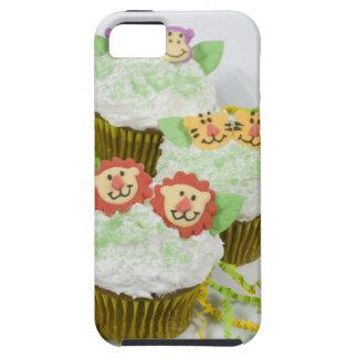 Cupcakes. animales del fiesta del safari iPhone 5 carcasa