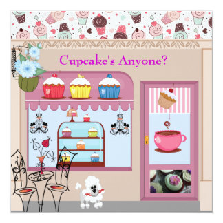 Cupcake's Anyone Posh Party Invitations