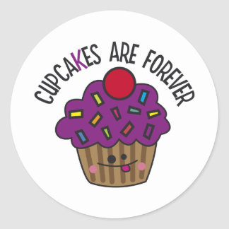 Cupcakes Are Forever Classic Round Sticker