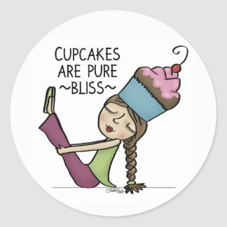 Cupcakes are Pure Bliss Classic Round Sticker