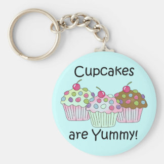 Cupcakes Are Yummy T-shirts and Gifts Keychain
