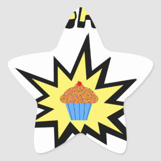 Cupcakes Bad For You Star Sticker