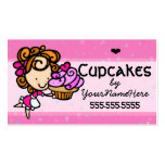 Cupcakes.Bakery.Baking.Dessert.Custom text-color Business Card