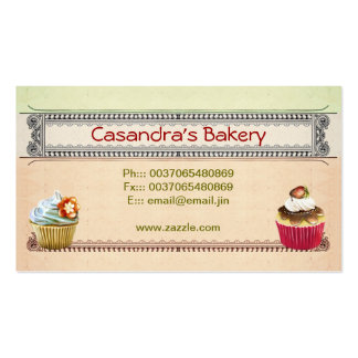 cupcakes bakery shop business cards