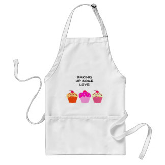 Cupcakes Baking up some Love Adult Apron