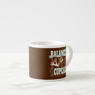 Cupcakes Balanced Diet - Healthy Eating Humor Espresso Cup