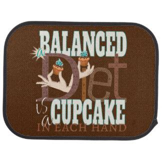 Cupcakes Balanced Diet - Healthy Eating Humor Floor Mat