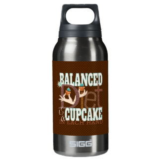 Cupcakes Balanced Diet - Healthy Eating Humor Insulated Water Bottle