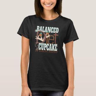 Cupcakes Balanced Diet - Healthy Eating Humor T-Shirt