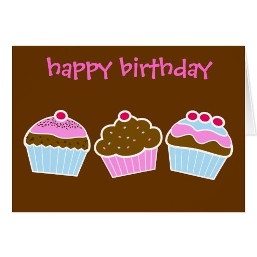 Cupcakes Birthday Card
