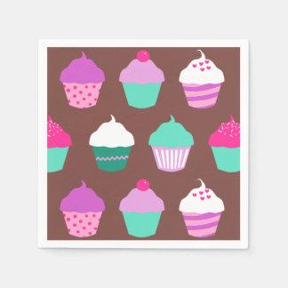 Cupcakes birthday cocktail napkin