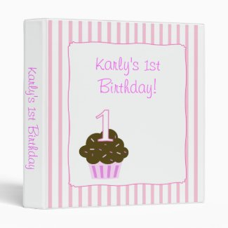 CUPCAKES Birthday Personalize ANY age Binder