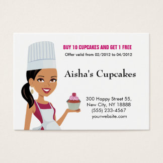 Cupcakes Biz Card with African Am Version