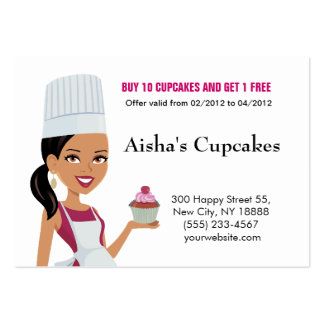 Cupcakes Biz Card with African Am Version Business Card Templates