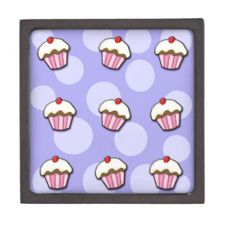 Cupcakes - blue keepsake box