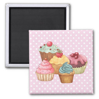 Cupcakes Cakes Pastry Magnet