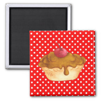 Cupcakes Cakes Pastry Magnet 2 Inch Square Magnet
