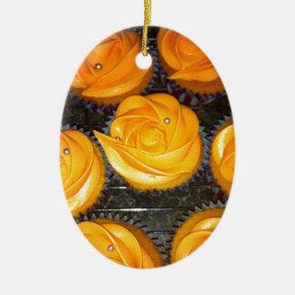 Cupcakes Ceramic Ornament
